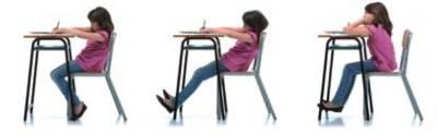 Botón a sillas ergonómicas de rodillas