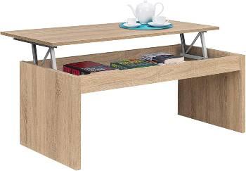 Mesas de centro elevables madera